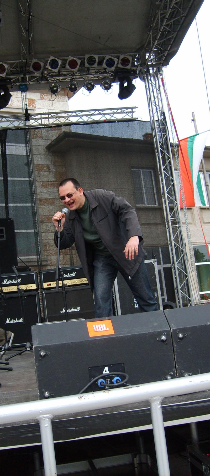 Аз на сцена в Каварна :)