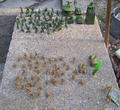 Игра с фигурки на войници